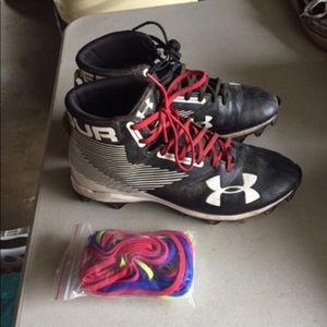 Under Armour Football Cleats Extra Laces Men's 8.5